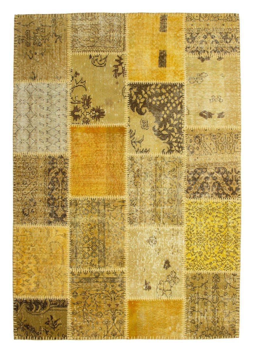 Atlas 560 Gold Teppich Teppiche Modern Design Patchwork , Größe:120cm x 170cm online kaufen