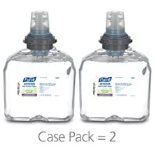 PURELL 5391-02 Green Certified Instant Hand Sanitizer Foam, 1200 mL TFX Refill (Case of 2)