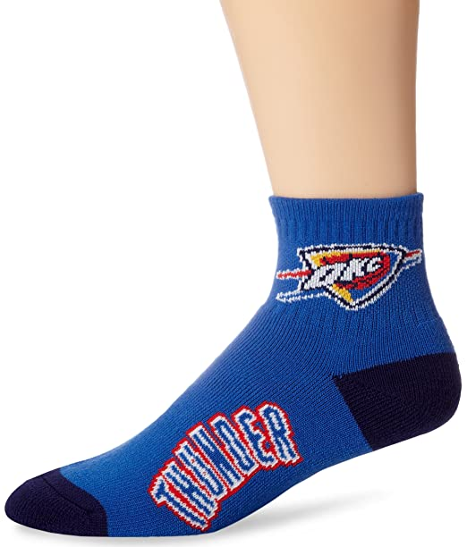 Oklahoma City Thunder Team Logo Quarter Sock