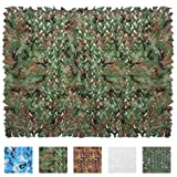 Iunio 6.5ft x 5ft / 2m x 1.5m Camouflage Netting Fire Retardant Camo Nets For Hunting, Shooting, Garden Screening, Events & Parties, Home Decoration, Kids Bedrooms