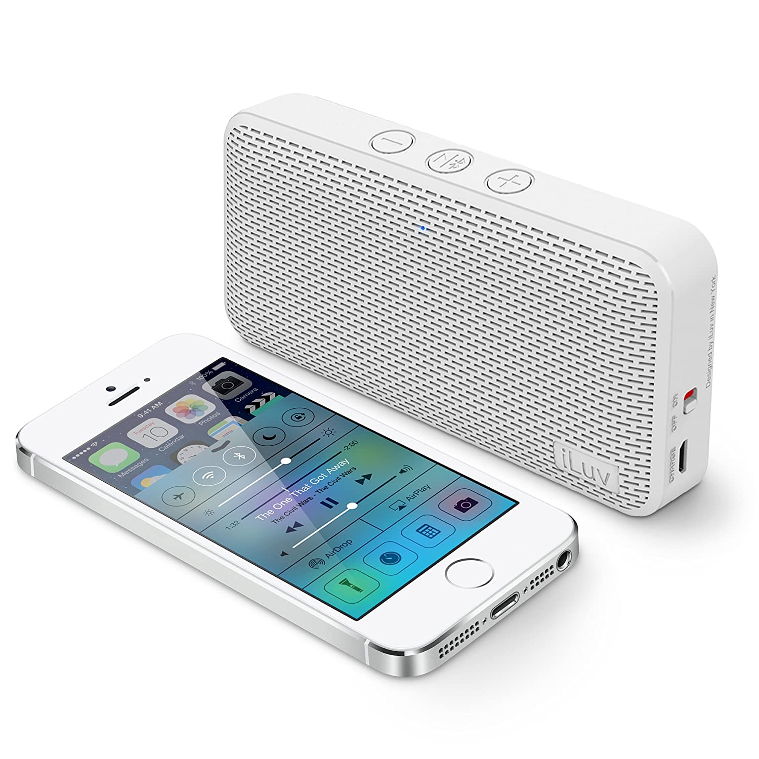 Iluv Aud MiniTM Smart 6 Slim Portable Weather-resistant App-enabled Fm Radio and Bluetooth® Speaker for Iphone 6/6 Plus, 5s/5c/5, 4s; Samsung Galaxy S5, S4, S3, Note 4, Note 3; Lg®; Htc®; Ipad®; Ipad MiniTM and Other Bluetooth-compatible Smartphones and