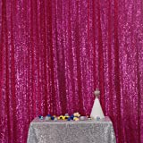 PartyDelight Sequin Backdrop, Photo Booth, Sweet Sixteen, Wedding, Marriage Ceremony, Fuchsia, 4FTx6FT (Color: Fuchsia, Tamaño: 4FTx6FT)