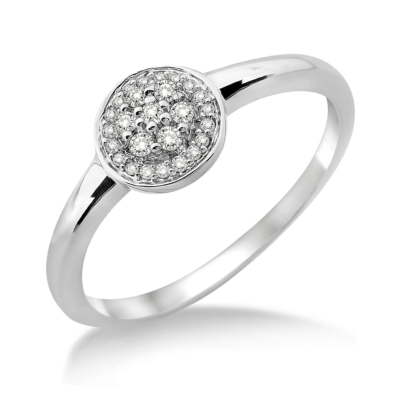 Miore Damen-Ring 9 Karat (375) Weißgold 26 Diamanten SH030RP-p günstig kaufen