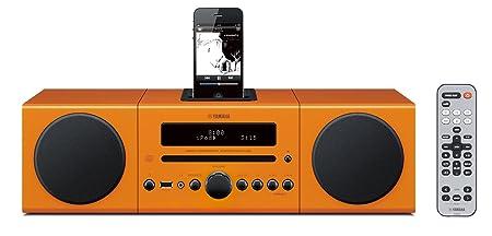 Yamaha MCR042OR Chaîne Hifi avec tuner FM pour CD/Ipod/Iphone Orange