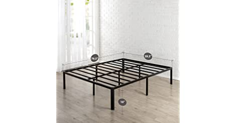 Popular Zinus Metal Platform Bed Frame with Steel Slat Support Mattress Foundation Queen from Zinus for