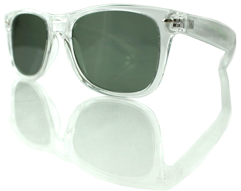 Transparent Clear Ultra Emerald Diffraction Glasses - Rave Glasses - Prism Shades - Light Show Glasses emerald