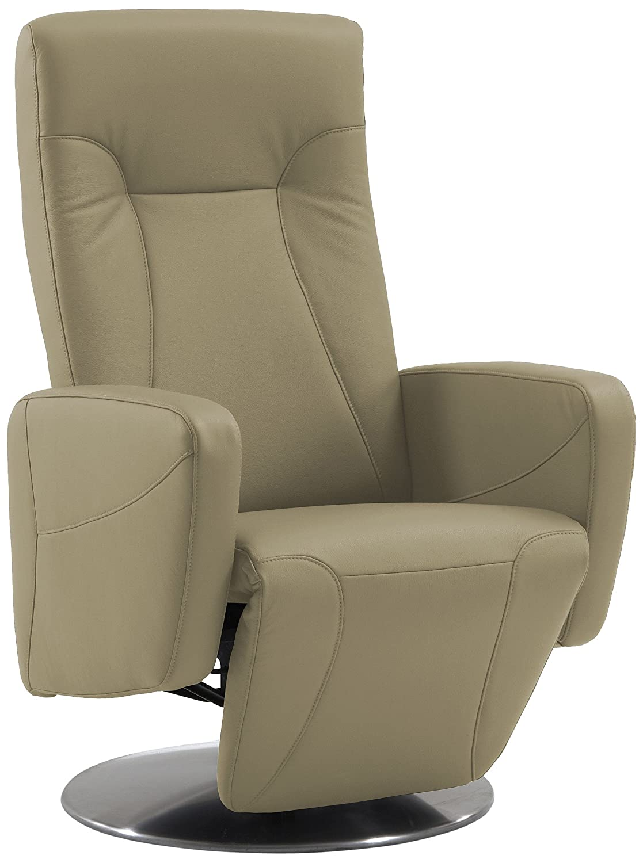 Sino-Living SE-814 Relax- und Ruhesessel in Dickleder, beige mit motorischer Verstellung inklusive Aufstehhilfe