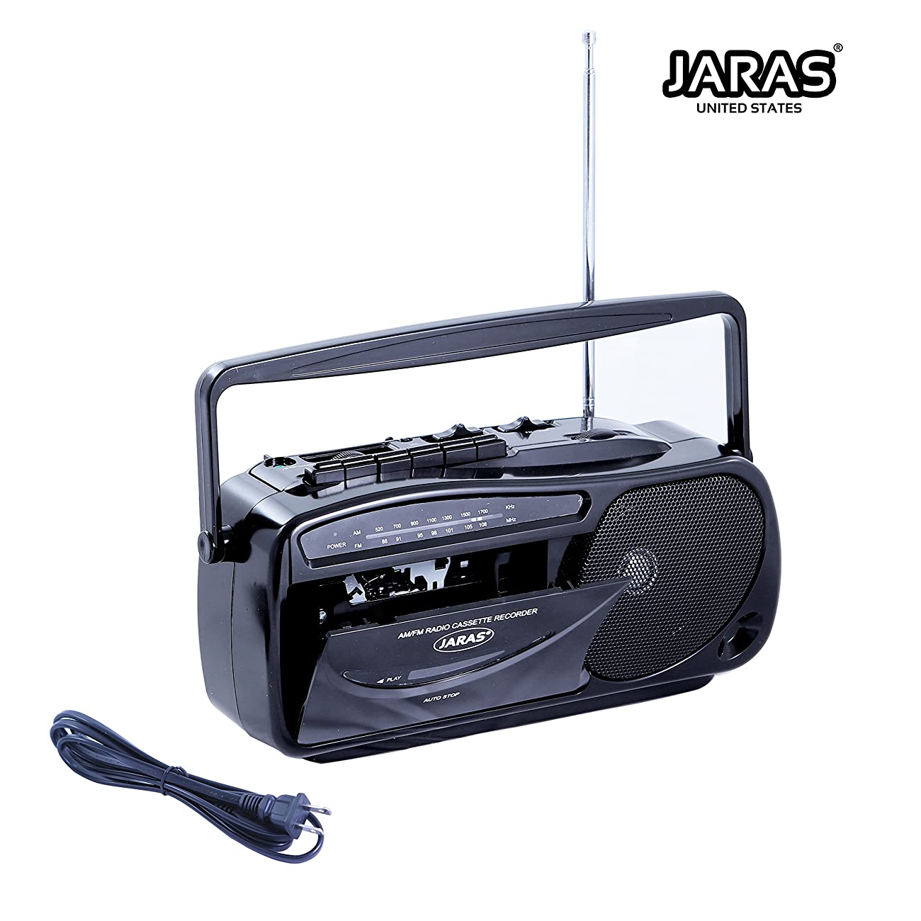 Jaras JJ-2618 Limited Edition Portable Boombox Tape Cassette Player/recorder with AM/FM Radio Stereo Speakers & Headphone Jack 1