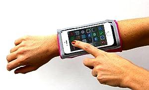 Brazalete Deportivo MyBand Elite Mac para el iPhone 5S, 5C, 5,4S, 4. iPod Touch o cualquier dispositivo portátil del mismo tamaño o más pequeño.  Deportes y aire libre Más información y revisión del cliente