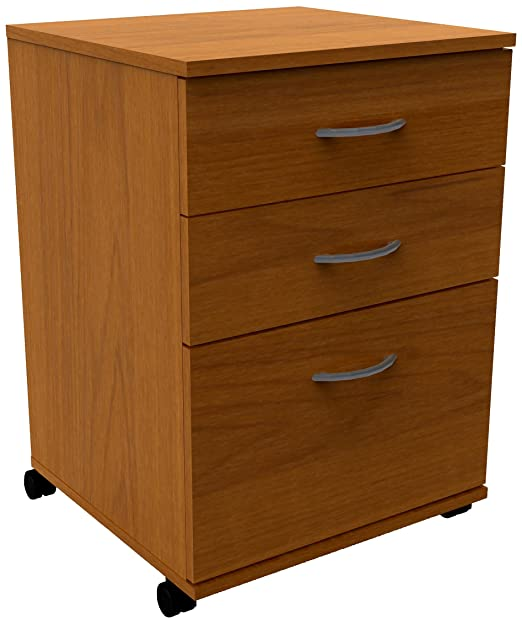 Nexera 8092 3-Drawer Mobile File Cabinet, Cappuccino Finish