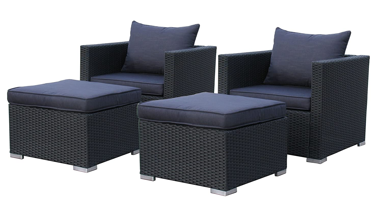 sessel hocker set pepe schwarz 10tlg bestellen. Black Bedroom Furniture Sets. Home Design Ideas