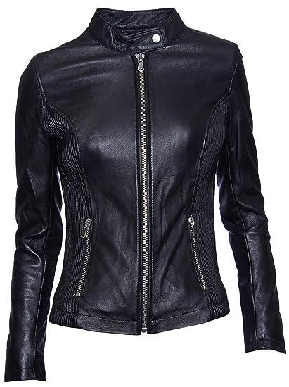 BE EDGY Damen Lederjacke Gipsy Bikerjacke Jacke Leder - Leder - schwarz