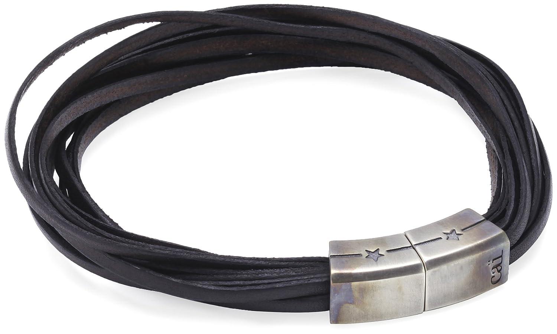 caï Men Herren-Armband 925 Sterlingsilber vintage-oxidized 23 cm C4045B/90/00/23 günstig bestellen