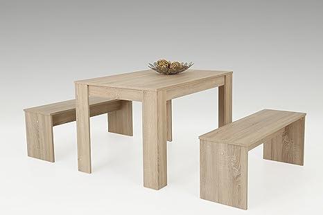 Doris I EssgruppeEsstisch Tisch,Wohnzimmertisch,Esszimmer tisch,2 x Bank