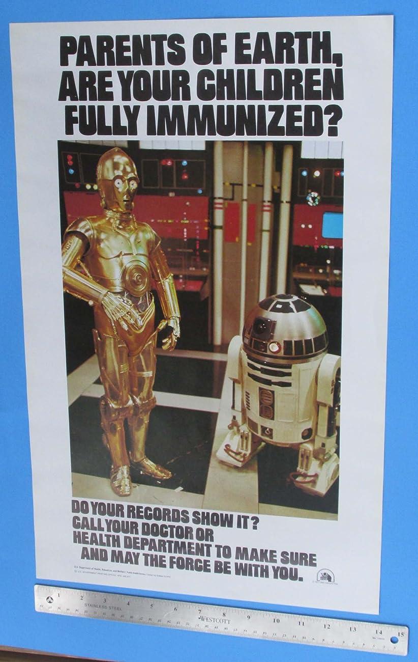 Immunization Poster 1979 Vintage Star Wars C-3PO R2-D2 Original 1