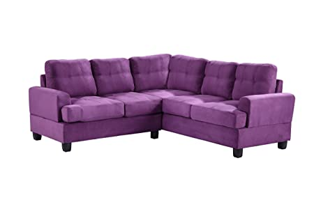 Glory Furniture G517B-SC Sectional Sofa, Purple, 2 boxes