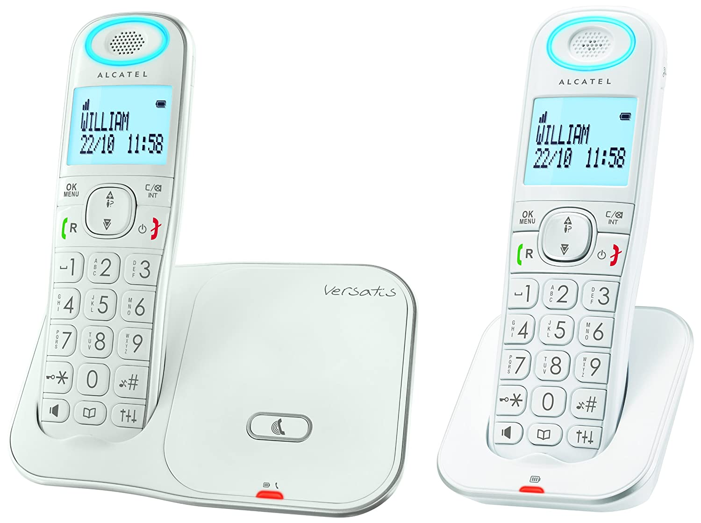 T�l�phone fixe ALCATEL VERSATIS XL350 BLANC DUO AVEC REPONDEUR