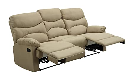 Glory Furniture G407-RS Reclining Sofa, Beige