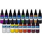Intenze Color Tattoo Ink Sets 1 oz (19 Color Tattoo Ink Set) (Color: 19 Color Tattoo Ink Set)