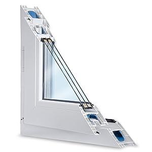 Fenster weiss 3fach verglast 78x58 (BxH) kipp und drehbar (DKRechts) als Maßanfertigung  BaumarktKundenbewertung und Beschreibung