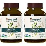Himalaya Organic Bacopa Monnieri/Brahmi, Brain Supplement, Nootropic & Brain Booster for Enhanced Mental Focus + Memory + Clarity, 60 Caplets, 750mg (2 PACK) (Tamaño: 60 Caplets (2 PACK))