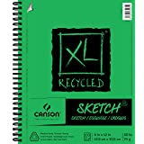 CANSON 100510922  XL Recycled Sketch Pad, 9