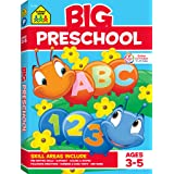 School Zone - Big Preschool Workbook - Ages 4 and Up, Colors, Shapes, Numbers 1-10, Alphabet, Pre-Writing, Pre-Reading, and Phonics (Big Get Ready Workbook) (Tamaño: Preschool)