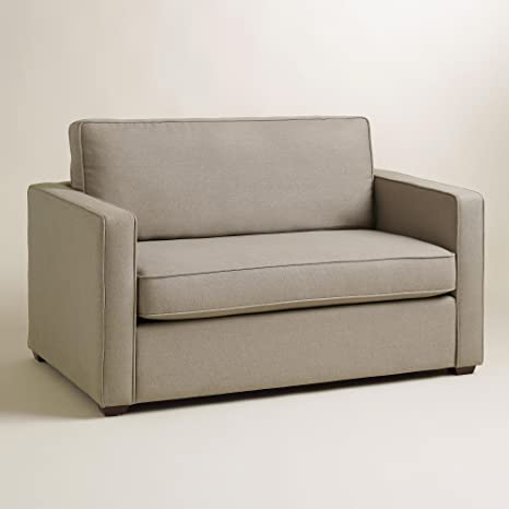 Pebble Gray Chad Chair-and-a-Half Twin Sleeper - World Market