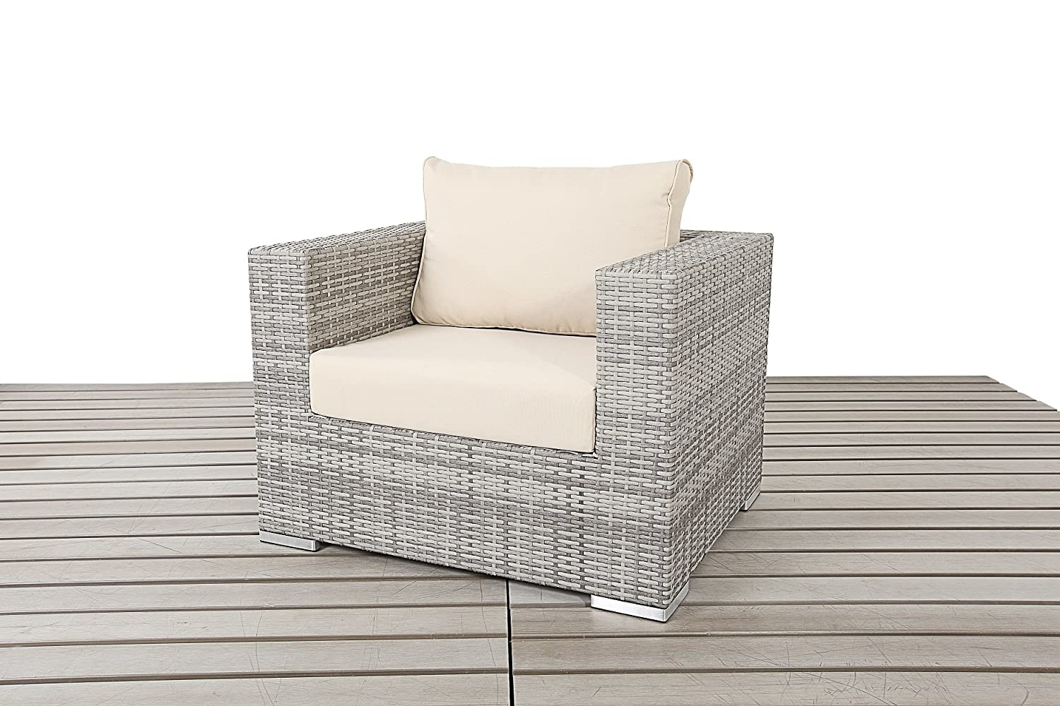 Dallas Rustic Garden Möbel Single Rattan Sessel