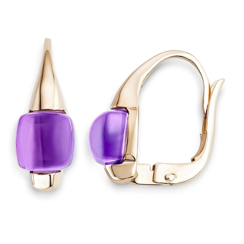 Miore Damen-Ohrringe 9 Karat (375) Rosegold Amethyst MNA9015E als Geschenk