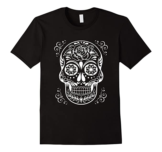Sugar Skull Shirt - Gothic Skull T-Shirt - Day of the Dead