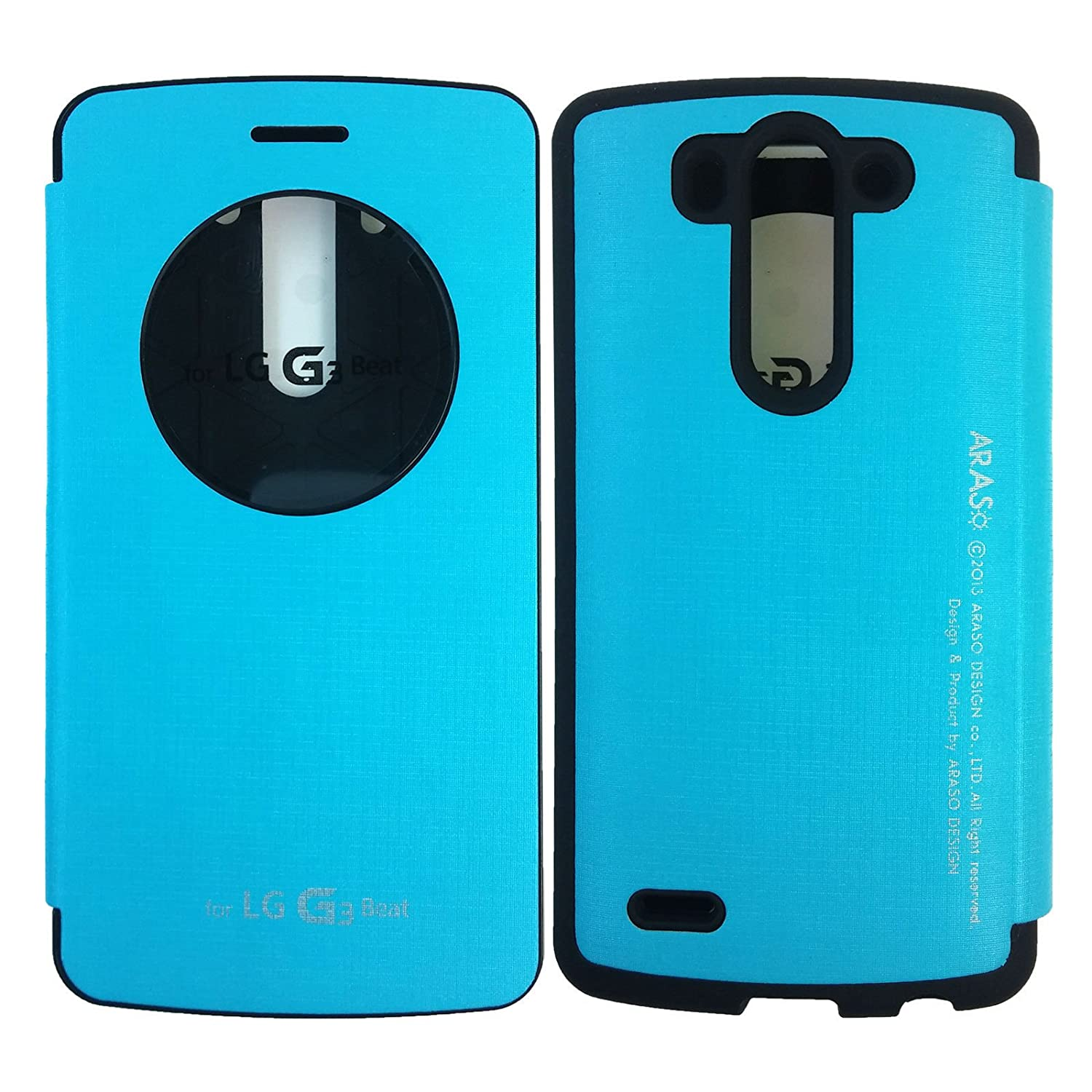 LG G3 Vigor Case,[Quick Circle View] Bumper Case PU Leather Flip Cover Magnetic closure Anti Shock Protective Case for LG G3 Vigor (Compatible with LG G3 Beat, G3 Mini Version Only) lg g3 s