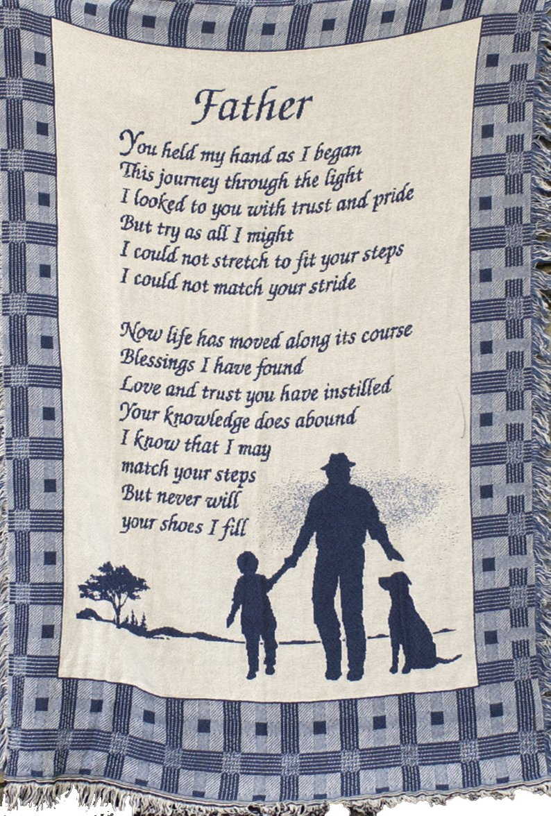 Manual 46 X 60-Inch Throw with Fringe, Father You Held My Hand