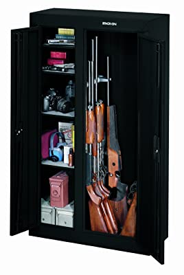 Stack-On-GCDB-924-10-Gun-Double-Door-Steel-Security-Cabinet-with-gun-and-equipment