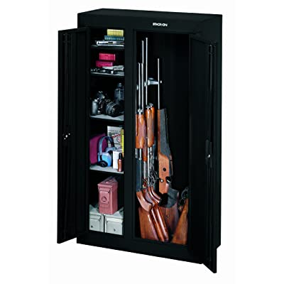 Best gun safe reviews 2017 top rated for the money for 10 gun double door steel security cabinet