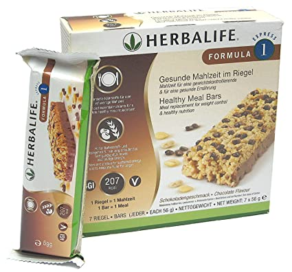 Herbalife Formula 1 Express-Riegel Schoko 7 Riegel á 56 g