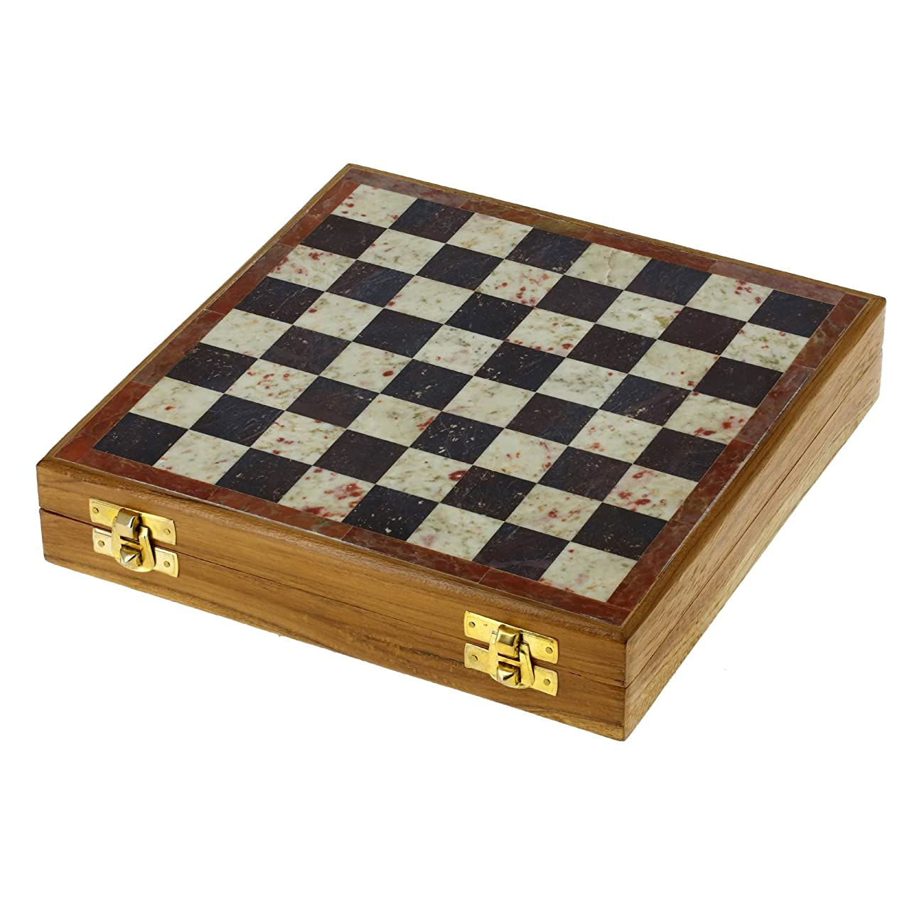 ShalinIndia Rajasthan Stone Art Unique Chess Sets and Board -Indian Handmade Unique Gifts -Size 8X8 Inches 3