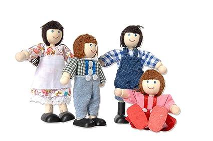 Tidlo : la famille de poupées de ferme : fait de bois
