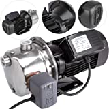Happybuy Shallow Well Jet Pump with Pressure Switch 1HP Jet Water Pump 148 ft Stainless Steel Jet Pump to Supply Fresh Well Water to Residential Homes Farms Cabins (Color: Stainless Steel, Tamaño: 1 HP - 750 W)