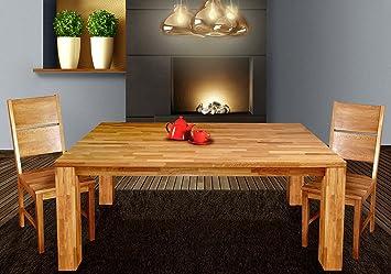 esstisch bea tisch 140x90 cm eiche massiv ge lt fu 120x120 mm dc485. Black Bedroom Furniture Sets. Home Design Ideas