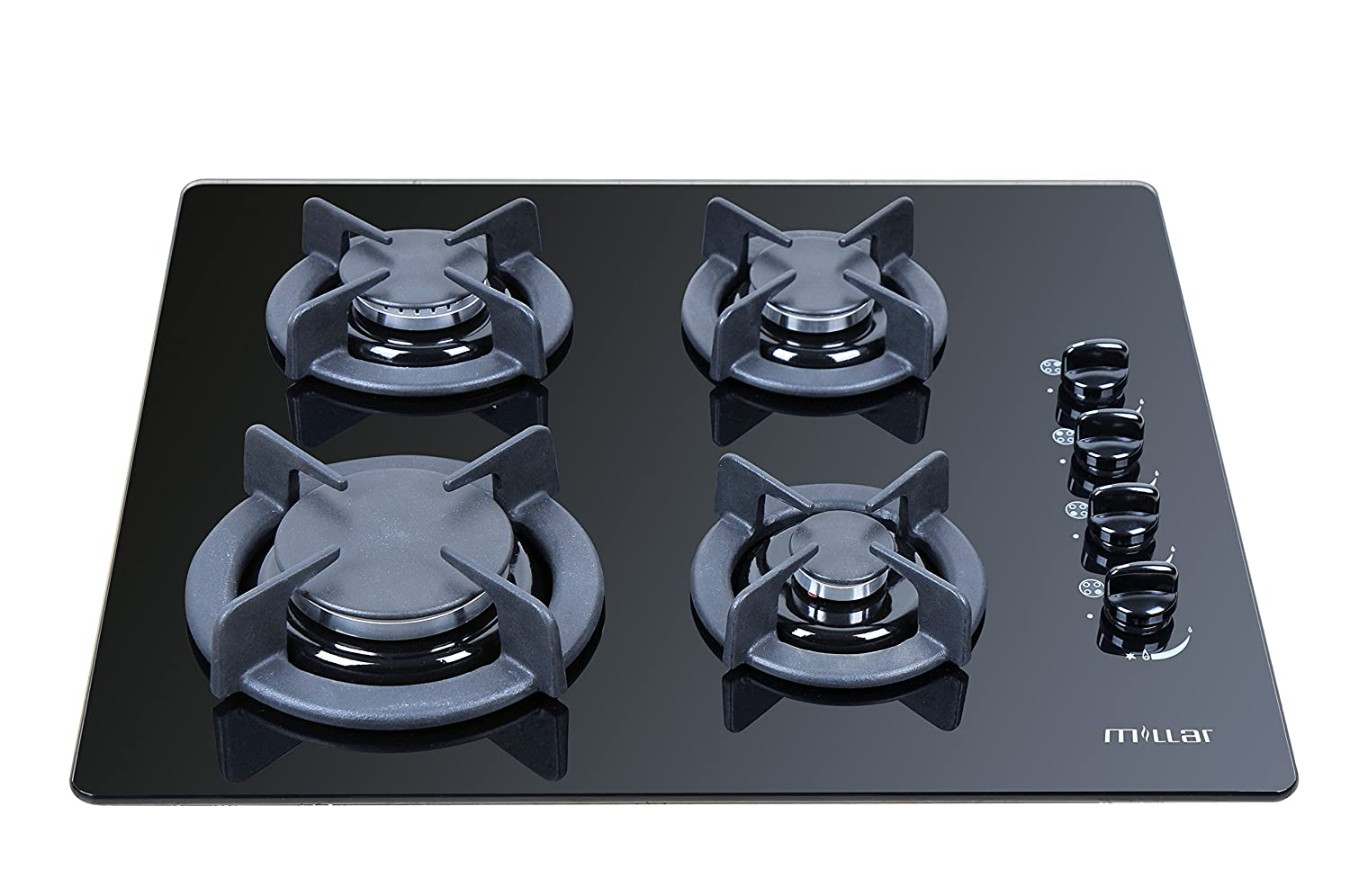 new cast iron 4 burner gas hob cooktop ceramic tempered glass 4 ring - Copy