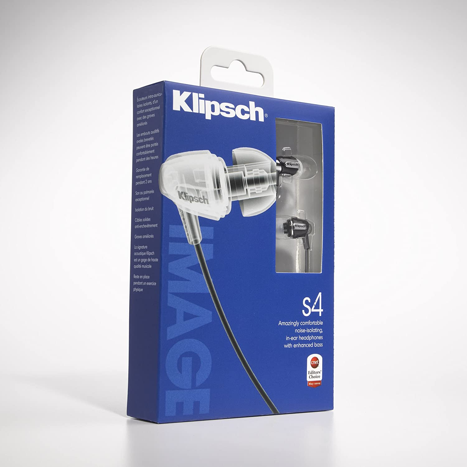 Tai nghe Klipsch IMAGE S4 In-Ear Enhanced Bass Noise-Isolating Headphones (Black