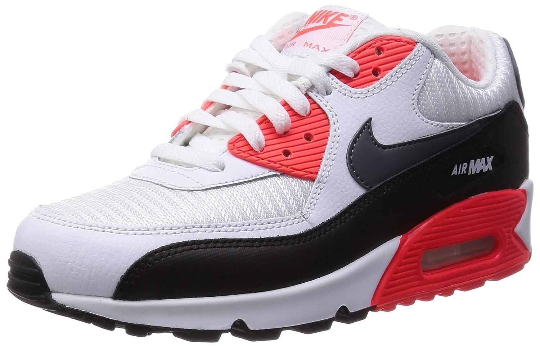 Nike Men\u0026#39;s Air Max 90 Essential, WHITE/DARK GREY-BLACK-BRIGHT CRIMSON, 8 M US | $161 - Buy today!