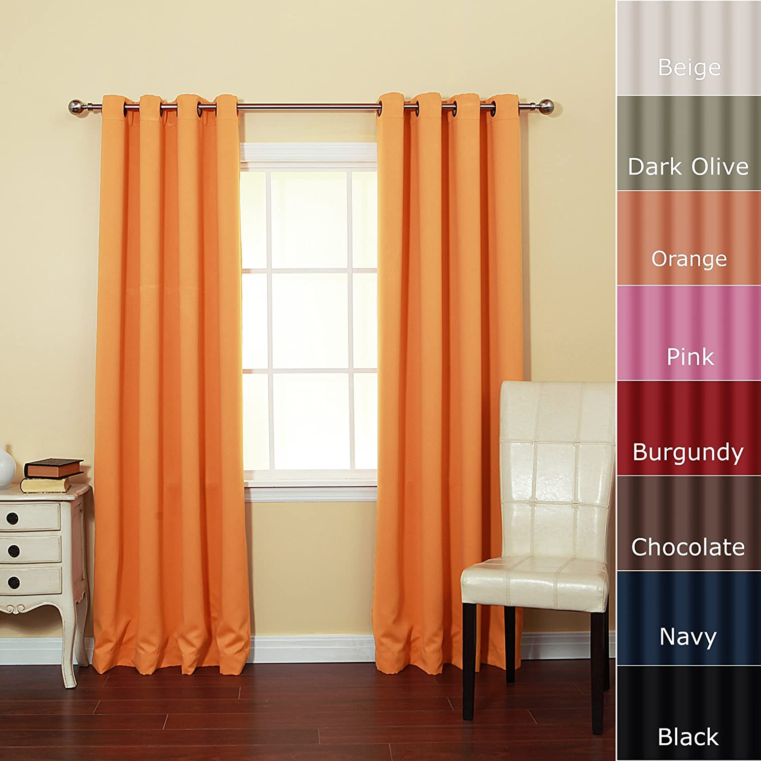 Black And Orange Curtains Interior Decorating Las Vegas