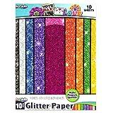 ArtSkills Glitter Premium Paper, Assorted Colors, 9