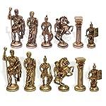 DakshCraft Indian Brass Chess Pieces Set