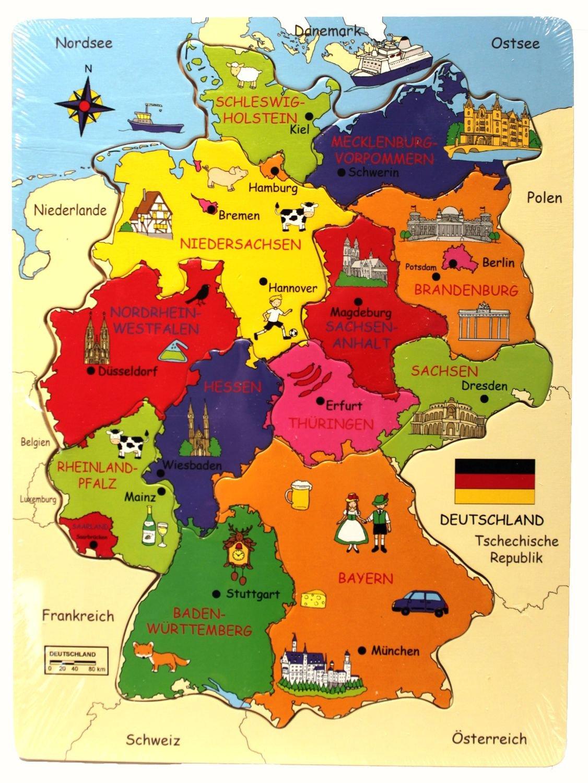 deutschlandkarte mit bundesl228ndern fli