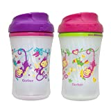 Gerber Graduates Advance Developmental Insulated Cup Like Rim Sippy Cup in Assorted Colors and Patterns, 9-Ounce (Color: Colors May Vary, Tamaño: 9 Ounce)