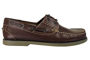 Chaussures de bateau pour les hommes - bleu et brun   Commentaires en ligne plus informations