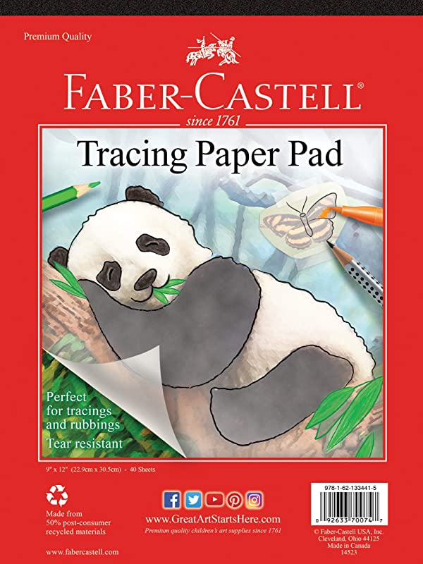 Faber-Castell Tracing Paper Pad - 40 Sheets (9 x 12 inches) (Color: clear, Tamaño: 9 x 12)